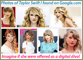 Miku kicks off our Brave New World. Images of the beautiful Taylor Swift which I found on Google.