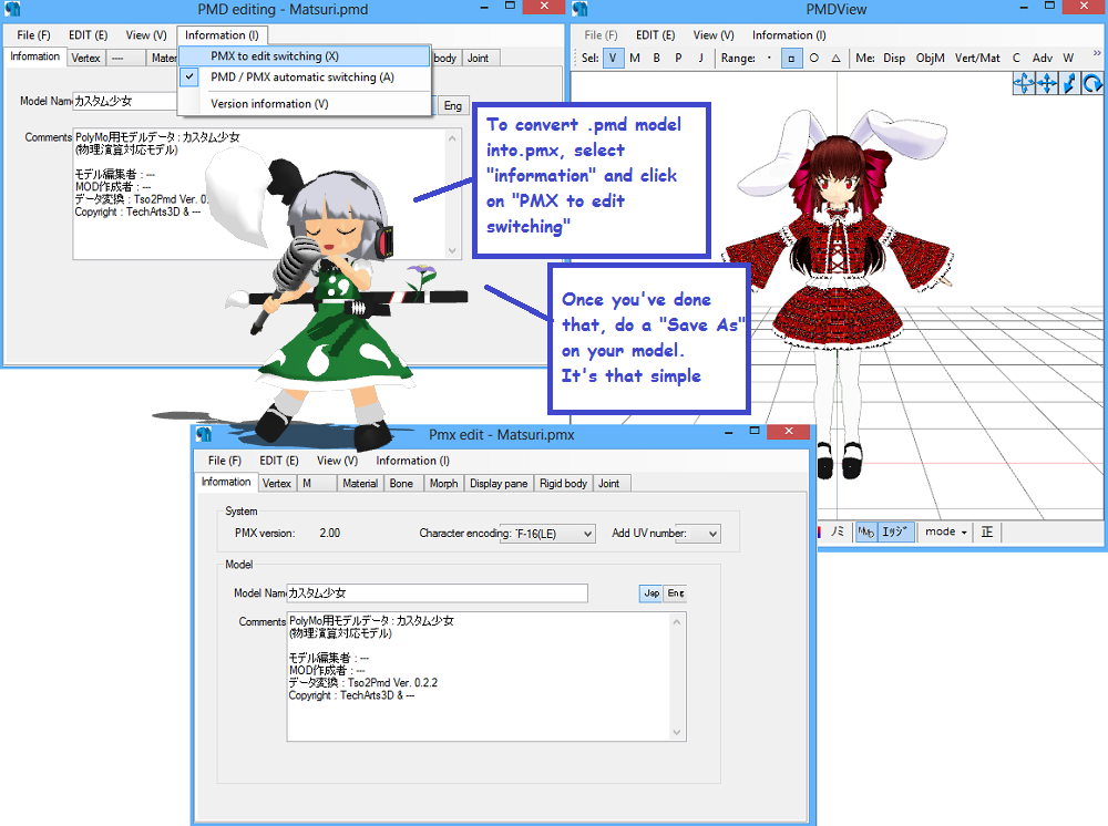 Modify MMD Facial Sliders with PMDE