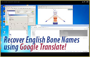 Watch the video to learn how to recover the Japanese bone names and translate Japanese models into English.