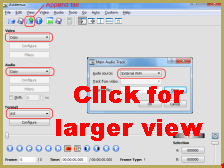 Use Avidemux to create multi-part videos