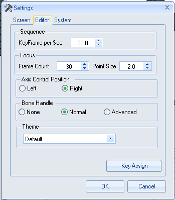 The Editor tab on the MMM Settings menu.  LearbMMD.com MMD vs MMM!