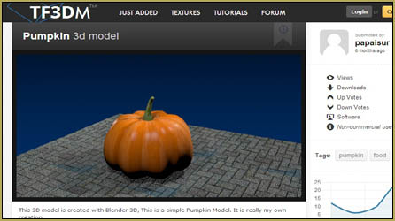 Our pumpkin object model on TF3DM