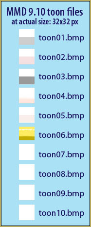 MMD 9.10 includes these toon files.