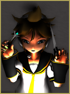 Don't be afraid to patch your models when necessary! There's nothing that Len Kagamine can't fix with scissors and a sonic screwdriver!