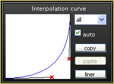 This interpolation curve is set to start the action slowly and build to full speed!