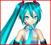 Miku looking alert ... Creating an animation is a challenge!