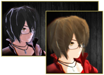 The pmothair Effect gives your MMD model softer, fluffier hair!