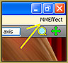 Go to the MMEffect Button in the upper right corner of the MMD screen.
