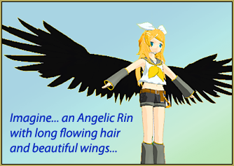 Imagine creating an Angelic Rin using PMDE and some parts that you can download... using a placeholder .x model makes it easy!