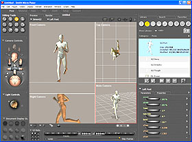 Poser software... powerful stuff for the 3D animator!