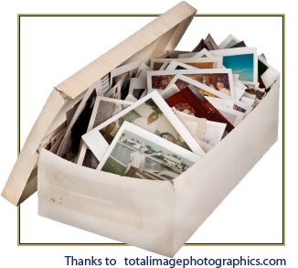The old Box of Photos... every family used to have one!