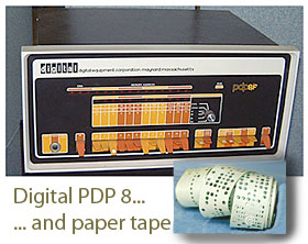 Print a hard copy of your work. Technology changes so quickly! his is a Digital pdp 8 Computer circa 1970.