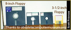 The evolution of floppy discs... Print a hard copy... technology changes so quickly!
