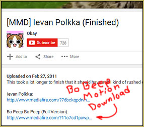 Crazy that our BoBeep motion file is in an Ievan Polka video description!