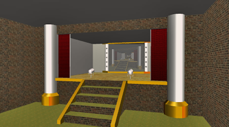 Follow the included instructions and you can build your own stage that looks similar to this one!