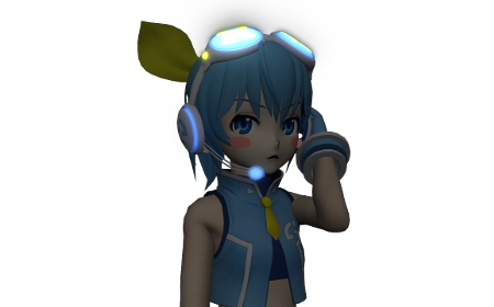 Ponytail Sora Amaha with shaders applied.