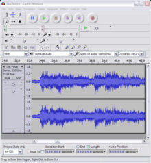 The free Audacity software is a powerful tool.