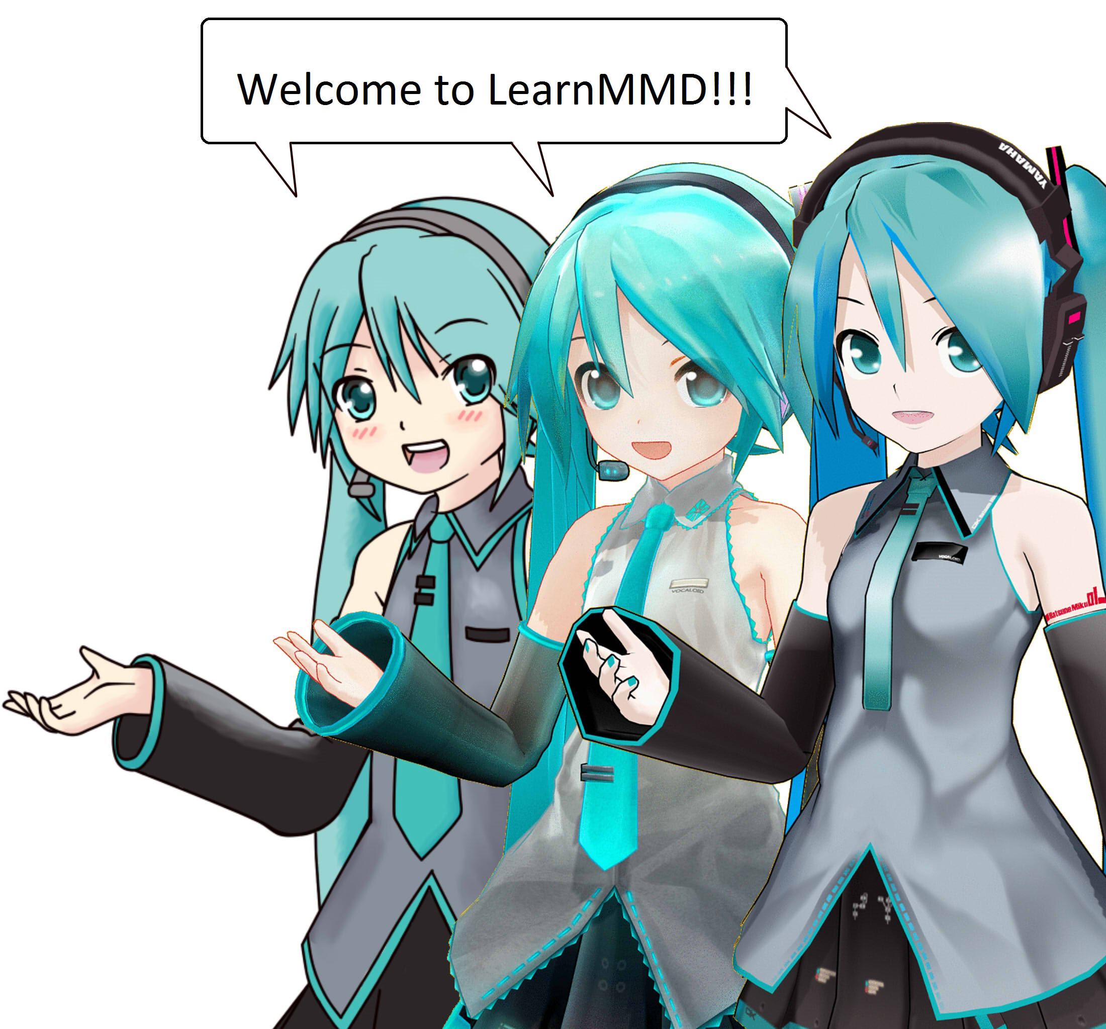 inspired by mmd draw miku blending 2d and 3d art