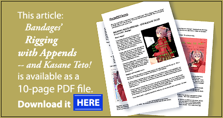 Rigging models with appends in PMXE... Download the PDF.