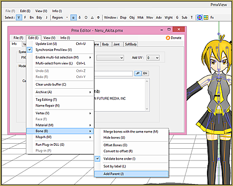 PMX Editor - Learn MikuMikuDance - MMD Tutorials - Free 3D