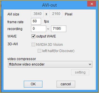 Select the proper codec for rendering in 4K as well as your frame rate!