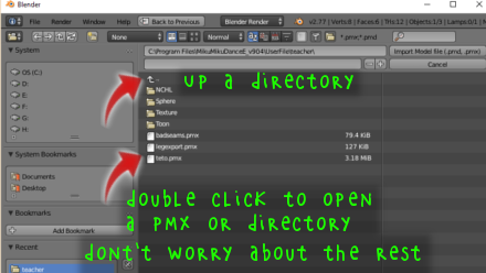 Blender File Open Dialog