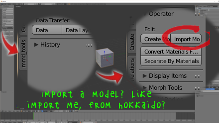 Importing model in MMDTools