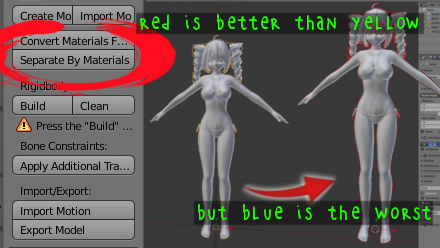 MMDTools Separate By Materials