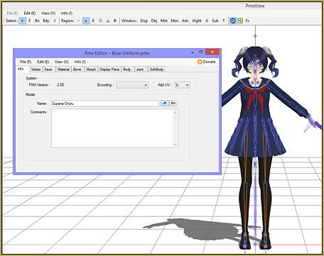 We are going to add hair physics to Virtually3D's Yandere Simulator model Supana Churu.