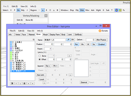 The Easiest Way To Add Hair Physics in PMX Editor!