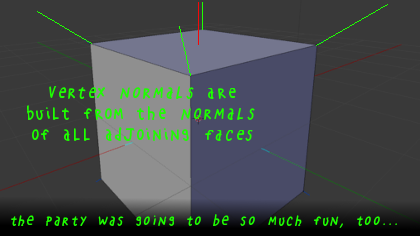 Teto explains vertex normals.