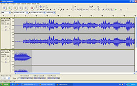 An MMD animation will often begin with a soundtrack... make it usnig Audacity software!
