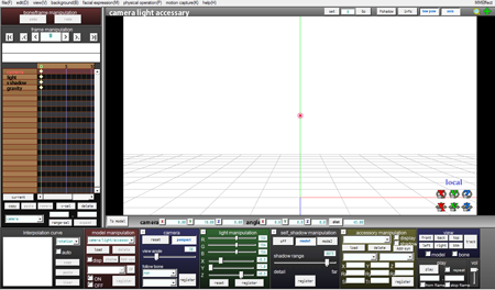 Here's the MikuMikuDance GUI... graphic User Interface.