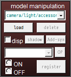 Load a model on the brown Model Manipulation panel. MMD Basics!