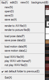 The MMD File Menu