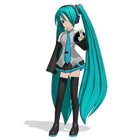 the original Miku Hatsune is still included in your MMD download bundle!