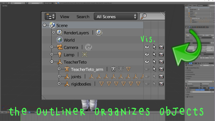 Revealing MMD armatures with Blender's Outliner