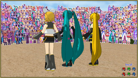 "The Paper Crowd model adds life to your MMD performance! This is ""16 Crowd"" ""arena front"" with ""raise""."