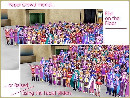 You can use the Raise slider to slant the floor under the crowd!