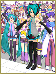 "The Paper Crowd ""crowd"" is smaller than Miku's full height."