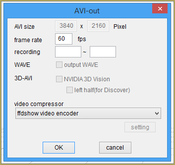 Setting-up the ffdshow codec for rendernig to AVI in MMD, MikuMikuDance.