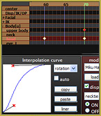 As you make your own motions, this interpolation curve decelerates a motion.