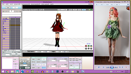 "Pose your MMD models using reference images for a ""natural"" look."
