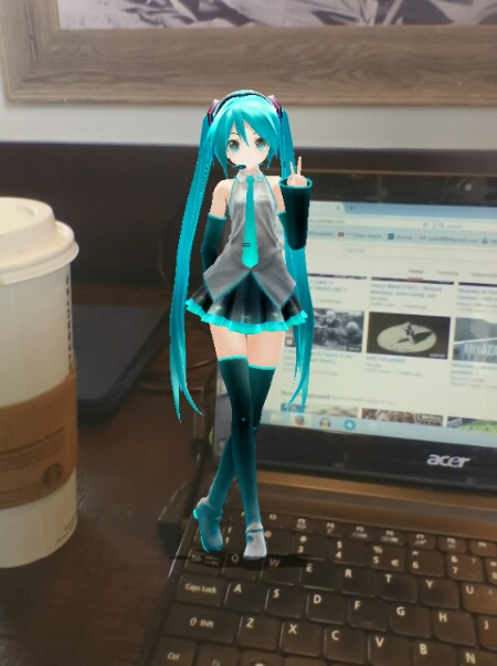 First step in making your AR image is to choose a model... Miku!