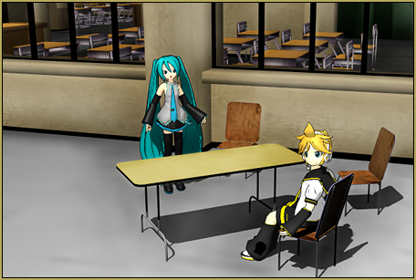 Enjoy Reggie's cafeteria table and chair accessory!