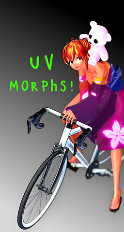 UV morphs for MMD