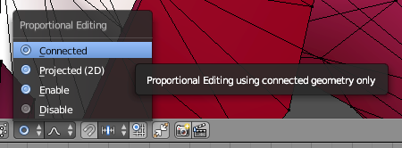 Proportional Editing Pop-Up