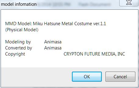 Metal Miku's Model Information