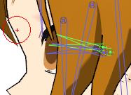 Location of Eye Bones on MEIKO model