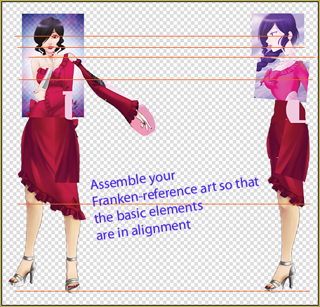 Reference sheet for Camila Melodia for use in 3D Modeling